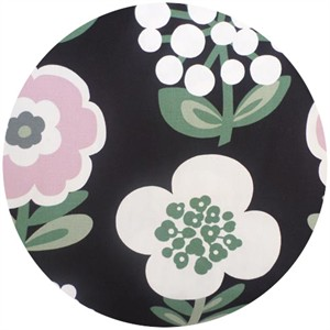 Cosmo Textiles, Bold Flowers Black