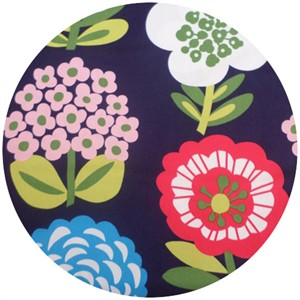Cosmo Textiles, Bold Flowers Navy