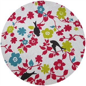 Cosmo Textiles, Branch Out Little Birdie, Bright Pink