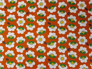 Cosmo Textiles, Cascading Flowers, Orange