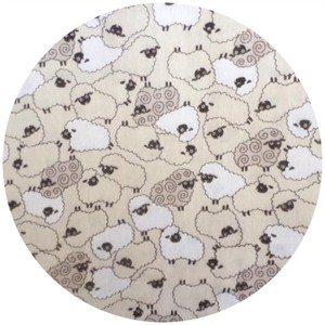 Cosmo Textiles, DOUBLE GAUZE, Counting Sheep Cream