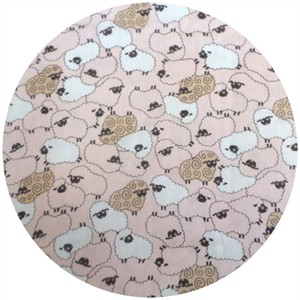 Cosmo Textiles, DOUBLE GAUZE, Counting Sheep Pink