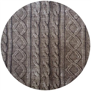 Cosmo Textiles, Faux Cable Knit Brown