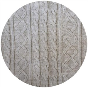 Cosmo Textiles, Faux Cable Knit Cream
