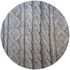 Cosmo Textiles, Faux Cable Knit Heather Gray
