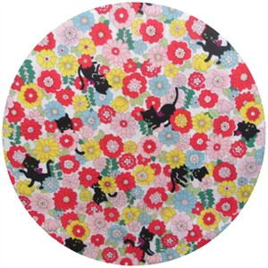 Cosmo Textiles, Floral Kitty Spring