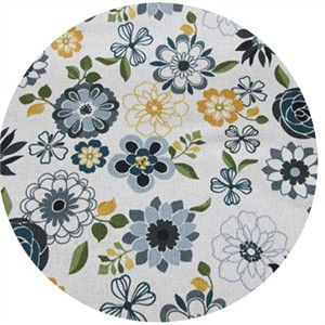 Cosmo Textiles, Flowers A Plenty, Midnight Blue