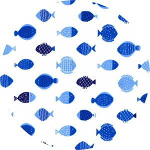 Cosmo Textiles, Gone Fishin', Keep Swimming Blue