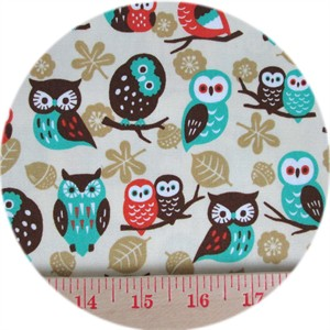 Cosmo Textiles, OXFORD, Hoot-e-Nanny Natural