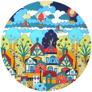 Cosmo Textiles, Hot Air Balloon City Green
