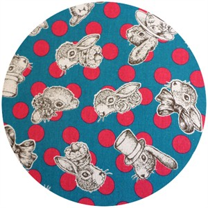 Cosmo Textiles, Joli Pomme, Fashion Forward Bunny Red