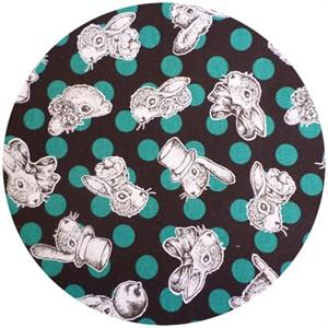 Cosmo Textiles, Joli Pomme, Fashion Forward Bunny Turquoise