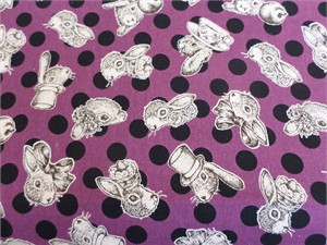 Cosmo Textiles, Joli Pomme, Fashion Forward Bunny Purple