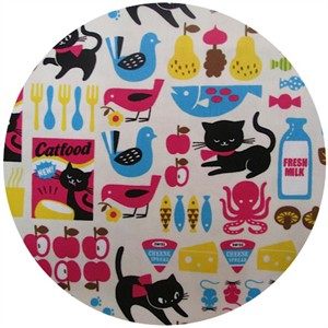 Cosmo Textiles, Kitty Supper Cream