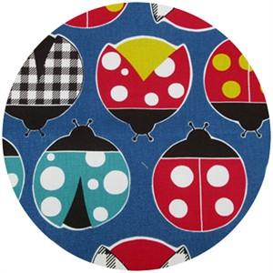 Cosmo Textiles, Ladybug Season, Blue
