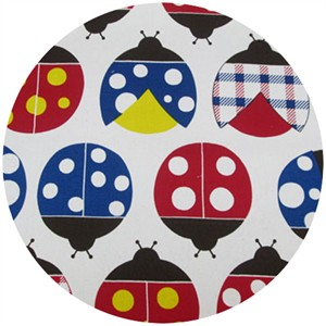Cosmo Textiles, Ladybug Season, Natural