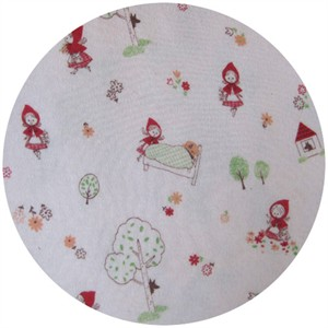 Cosmo Textiles, Little Red Riding Hood KNIT White