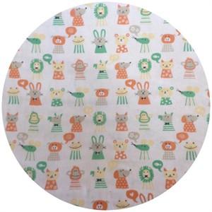 Cosmo Textiles, DOUBLE GAUZE, Menagerie Tangerine