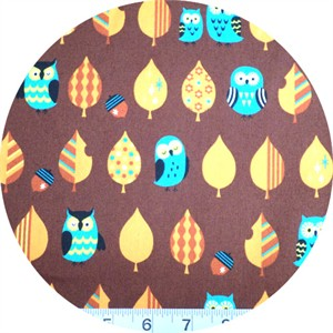 Cosmo Textiles, Mod Owls Brown
