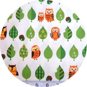 Cosmo Textiles, Mod Owls White