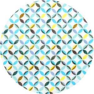 Cosmo Textiles, Mod Times, DOUBLE GAUZE, Lattice Blue