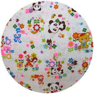 Cosmo Textiles, Panda Garden White
