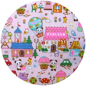 Cosmo Textiles, Panda Village Pink