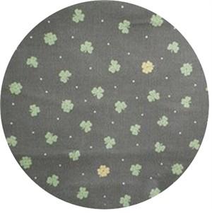 Cosmo Textiles, Printed Corduroy, Four Leaf Green