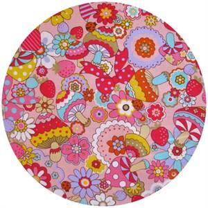 Cosmo Textiles, Retro Mushroom Mix Pink