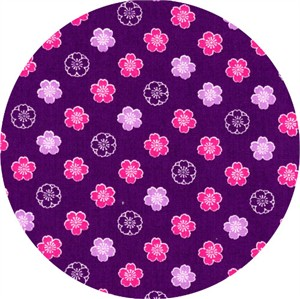 Cosmo Textiles, Sakura II, Bloom Purple