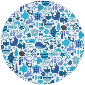 Cosmo Textiles, Sea Life Blue