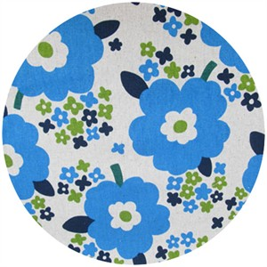Cosmo Textiles, Sizing Up Florals, Blue