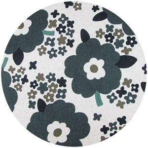 Cosmo Textiles, Sizing Up Florals, Black