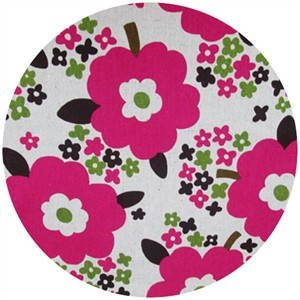 Cosmo Textiles, Sizing Up Florals, Hot Pink