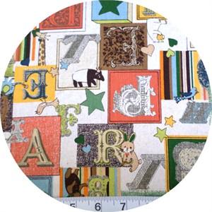 Cosmo Textiles, Victorian Alphabet Orange