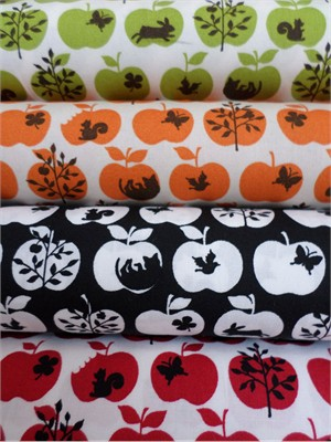 Cosmo Textiles, Woodland Apples in FAT QUARTERS 4 Total