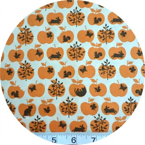 Cosmo Textiles, Woodland Apple Orange