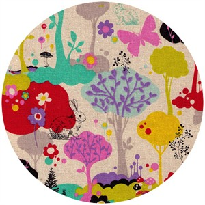 Cosmo Textiles, Woodland Silhouettes Natural