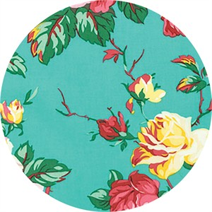 Verna Mosquera for Free Spirit, Fruta Y Flor, Cottage Rose Aqua
