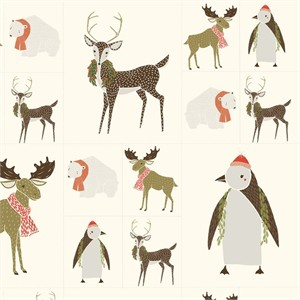 "Moda, Merrily, Critters Galore Snow (36"" Panel)"