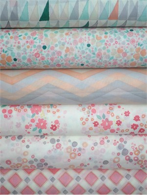 A Creative Mint, Palos Verdes Organic Voile in FAT QUARTERS 5 Total