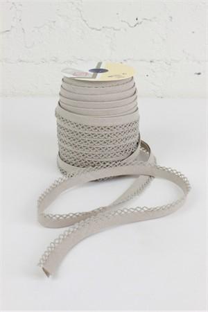"Fany, 5/16"" Crochet Edge Bias Tape, Linen"