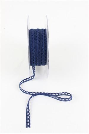"""Frou-Frou, 1/4"""" Crochet Lace Trim, Navy"""