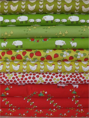 Creative Thursday, Locally Grown, Bright in FAT QUARTERS 10 Total