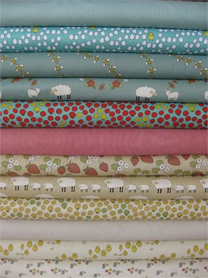 Creative Thursday, Locally Grown, Natural in FAT QUARTERS 12 Total  (PRE-CUT)