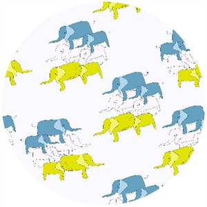 Creative Thursday, Zaza Zoo, Elephant Dance Green/Blue