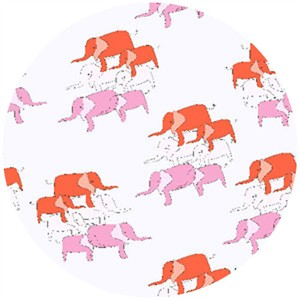 Creative Thursday, Zaza Zoo, Elephant Dance Pink/Red