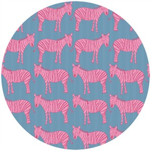 Creative Thursday, Zaza Zoo, Zebra March Blue/Pink