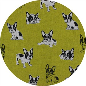 Japanese Import, CANVAS, Cute Pup Chartreuse