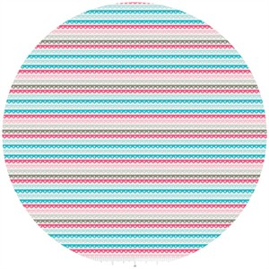 Dani for Riley Blake, Girl Crazy, Stripe Blue